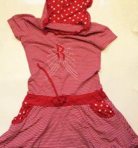 Платье в стиле КРАСНАЯ ШАПОЧКА