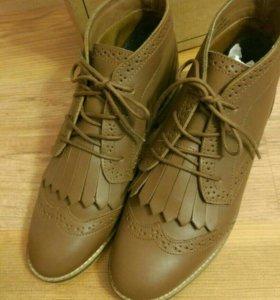 Ботинки кожаные asos новые