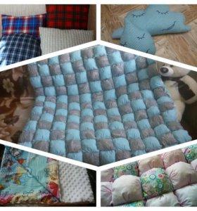 Подушки, пледы, одеяло БомБон, игрушки