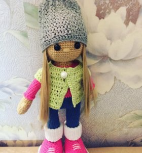 Кукла вязаная амигуруми игрушка