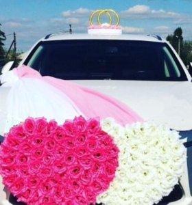 Декор на свадебную машину