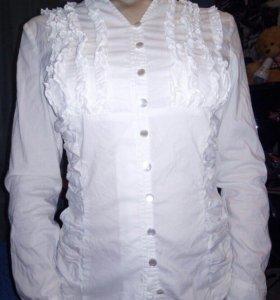 Женская белая рубашка/ блузка