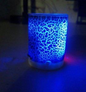Новая светящаяся bluetooth колонка