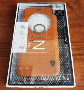 Кожаный чехол Nillkin для Samsung s7 edge (новый)