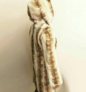 ⛄ Норковая шуба с капюшоном. Натуральная норка