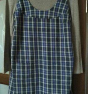Сарафан для беременных+футболка с длинным рукавом