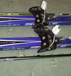 Лыжи 205 сантиметра с палками
