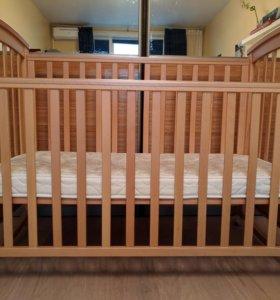 Детская кроватка Fiorellino+матрас Орматек