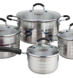 WR-1005 Набор посуды из нержавеющей стали 8 предме