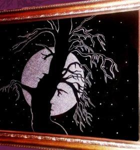 Ручная гравировка на стекле. Креатив!