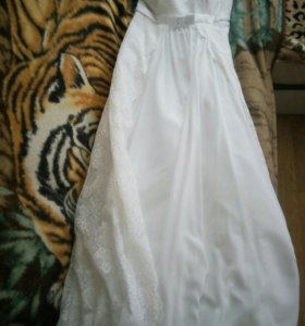 Свадебное платья с шубкой