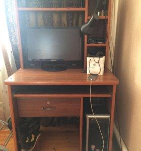Компютер, стол, кресло