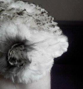 Шапка вязаный кролик