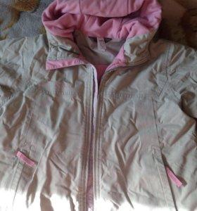 Куртка осенняя на девочку рост140-146