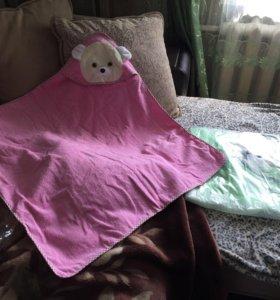 Полотенце детское уголком новое