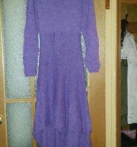 Платье вязанное накидка