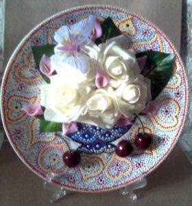 Декоративные тарелки ручная работа
