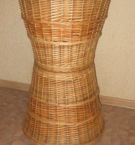 Плетеные лотки, напольные корзины