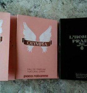 Пробники Paco Rabanne,Prada.