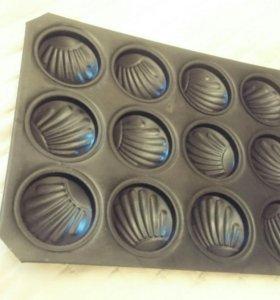 Формы для выпечки ввиде ракушек (металлические)