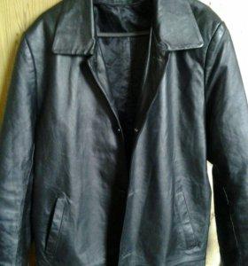 Кожаная мужская куртка, 3XL