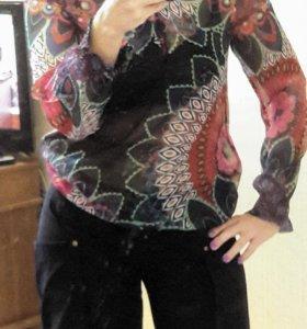 Desigual блузка шифон 48 размер