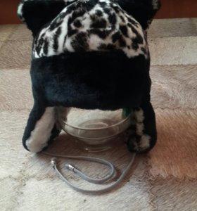 Новая очень теплая шапка на ребенка от 3 до 5 лет