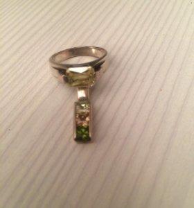 Подвеска и кольцо серебро
