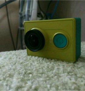 Action-камера, Xiaomi YI, аква бокс, селфи палка