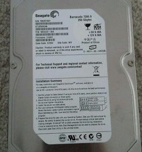 Seagate barracuda 7200.9 250gb