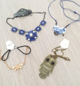 Ожерелье, кулон, бижутерия