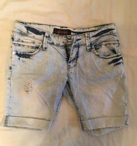 Джинсовые бриджи/шорты летние женские
