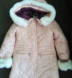 Зимнее пальто размер 98-104