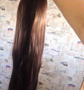 Волосы на заколках 60 см,новые