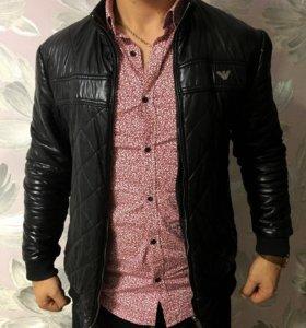 Куртка кожа Armani
