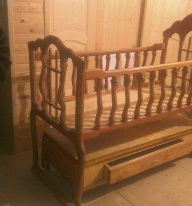 Детская кроватка, ручной работы