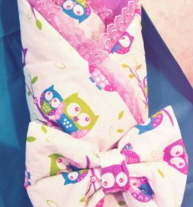 Одеяло-конверт на выписку девочке🎈