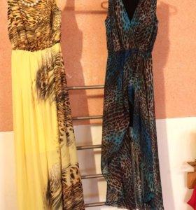 Платье желтое и бирюзовое по 500 каждое