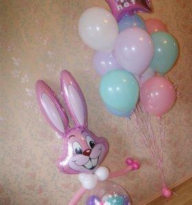 Заяц с набором шаров