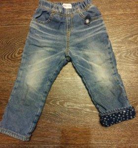 Тёплые джинсы глория