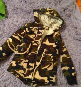 Теплая вертовка -куртка 110-116