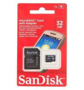 Карта памяти SanDisk microSD 8/16/32 Gb + адаптер