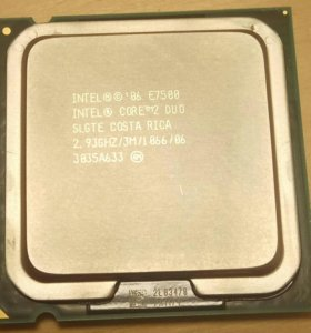 Intel Core 2 Duo E7500 2.93 GHz