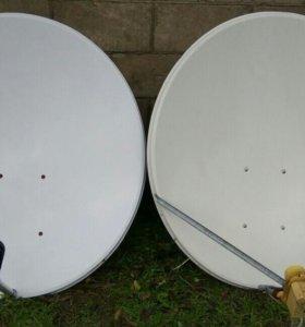Спутниковая тарелка с рессивером