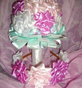 Букет невесты+ободок новый