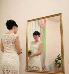 Кружевное платье свадебное (вечернее).