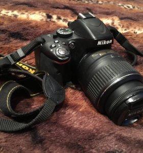 Фотоаппарат зеркальный Nikon D5100+два объектива
