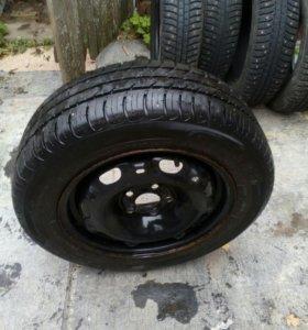 Запасное колесо на Шкоду Фабию