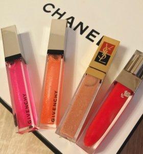блески для губ Givenchy,YSL новые
