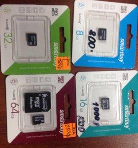 Флешки microSD